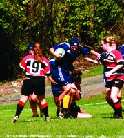 The Quinnipiac women's rugby team played in its inauragal season this year and hosted its first game against Marist on Oct. 3, 2011. The team would make history again later in the season when it faced Eastern Illinois in the first ever NCAA Division I women's rugby match. - Bryan Lipiner
