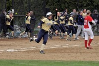The softball team tied an NCAA record by hitting back-to-back-to-back-to-back home runs in the first inning against Sacred Heart to cap off an eight-run inning. They would go on to defeat the Pioneers 12-7. The Bobcats batted around the order as Alex Alba started the derby off with a 3-run shot to left field. Mina Duffy, Katie Alfiere and Nikki Barba followed with three-straight solo shots. - Bryan Lipiner