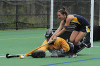 Quinnipiac 3, Brown 2Quinnipiac's Haley Swartz vies for the ball in Wednesday's game vs. Brown.