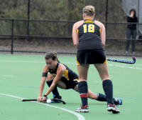 Quinnipiac 3, Brown 2Quinnipiac's Amanda Danziger sets up a corner play for Jennalise Taylor in Wednesday's game vs. Brown.