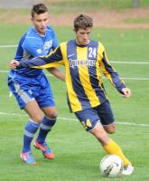 Quinnipiac 2, CCSU 1Quinnipiac's Will Cavallo kicks the ball in Friday's game vs. CCSU.