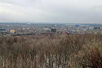 A panoramic view of the city of Montreal from, Mount Royal, the hill that gave the city it's name.