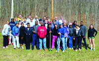 Students volunteer at the Farmington Canal Trail as part of the annual Big Event.