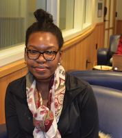"""I think everyone has their own opinions and I think everyone should express how they feel, but at the same time I feel like there should be more investigation on what happened. I feel like it wasn't a fair trial especially for Mike Brown because his family should have gotten some type of closure by giving Darren Wilson a consequence for his actions."" Tamika Domond, sophomore"