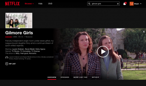 Gilmore Girls netflix screenshot