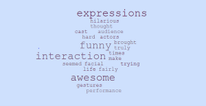 Some of the most commonly used terms to describe the play are displayed above.