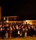 The QU community gathered on the Quad to show their support for Paris.
