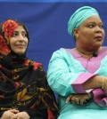 From left to right: Tawakkol Karman, Leymah Gbowee and Shirin Ebadi spoke to students about their personal struggles when trying to bring peace to their respective countries, encouraging them to be proactive within their communities.