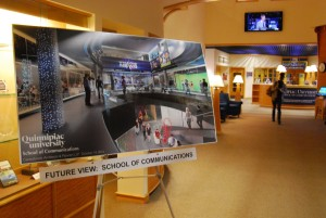 A poster in CCE shows the tentative plans for the layout of the building.