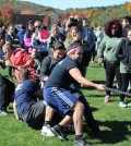 Members of Pi Kappa Phi compete in the tug of war tie breaker.