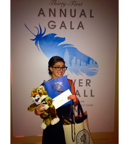 Daniella Giammona became the first member of the class of 2021 at a benefit honoring her late father.