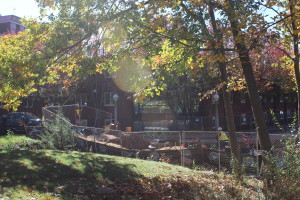 Construction is ongoing behind the Mountainview residence hall.