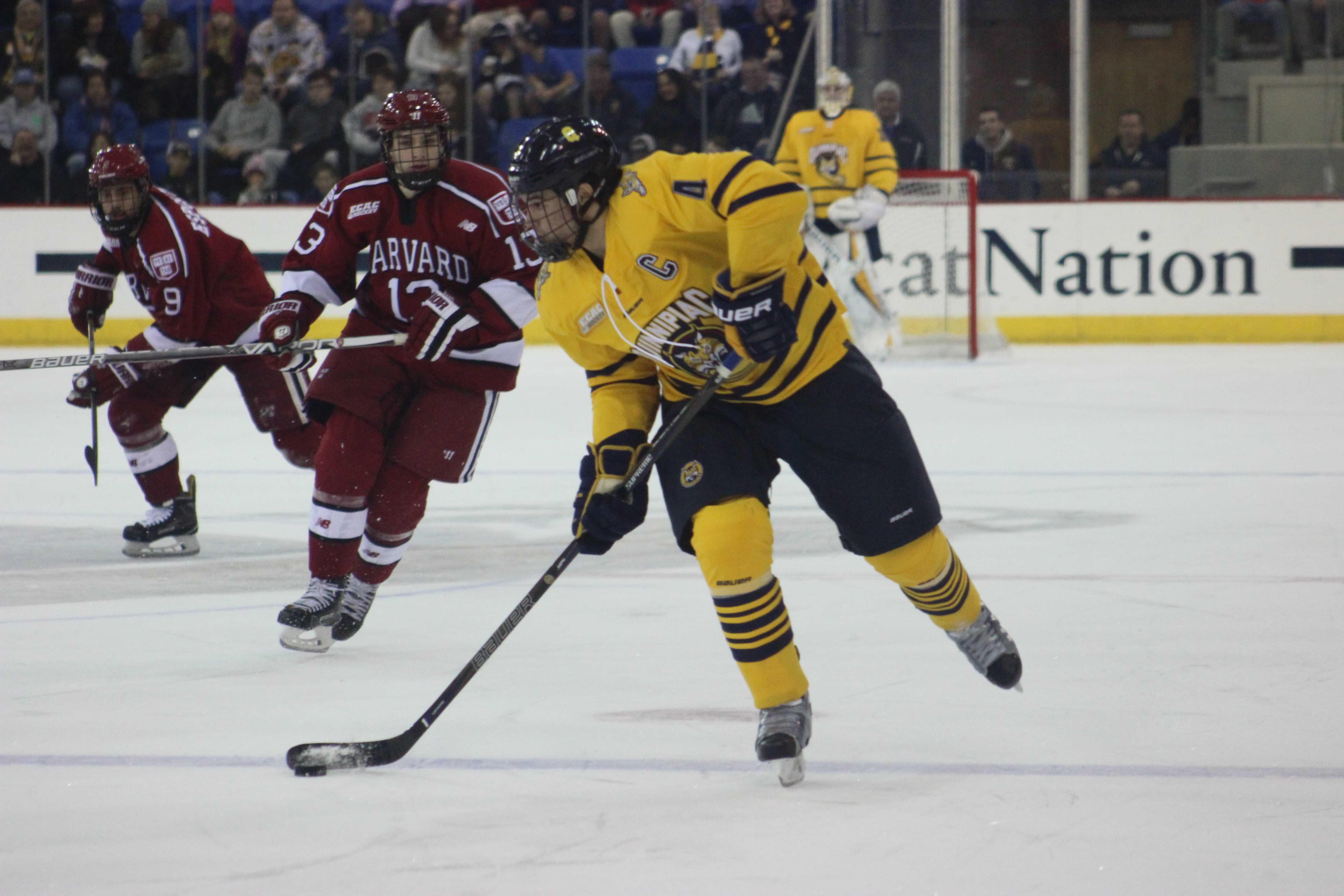 Harvard ends Quinnipiac men's ice hockey season in Lake ...
