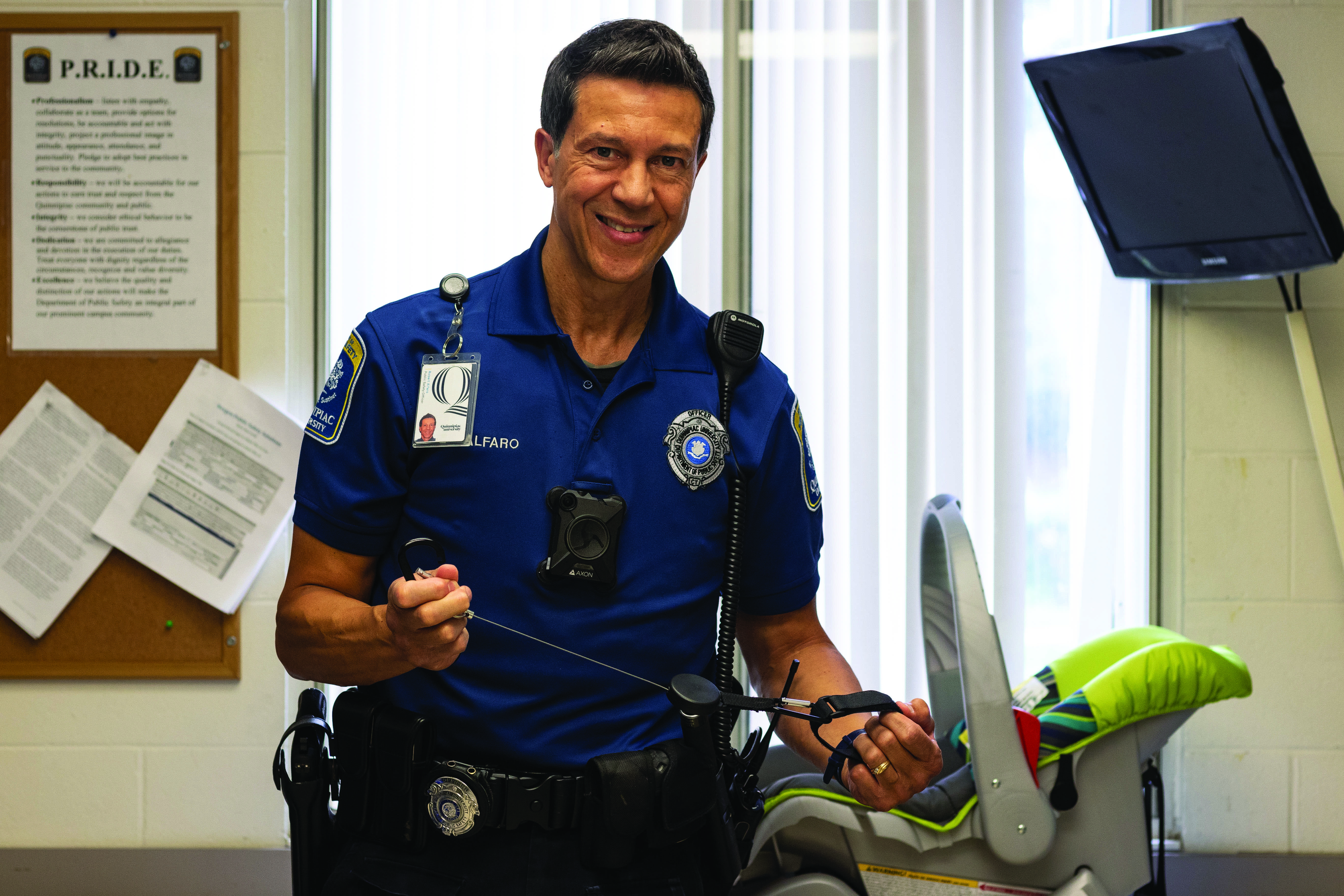 Quinnipiac University Public Safety Officer Invents 'Hooked on Baby'