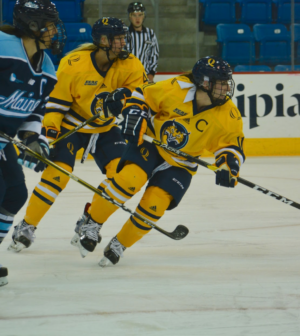 Quinnipiac women's ice hockey captain Melissa Samoskevich