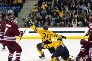 No. 8 Quinnipiac Men's Ice Hockey Upsets No. 1 UMass, 4-0